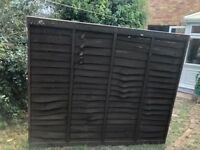 Fence Panels x5 plus 4 chunky treated fence posts