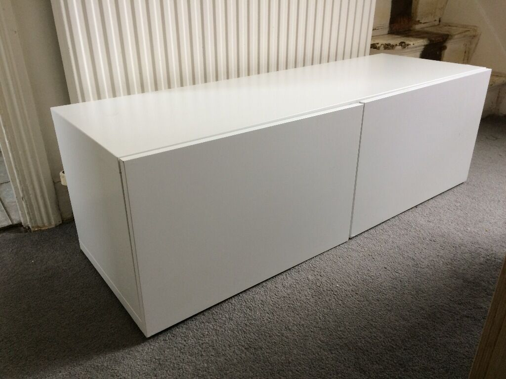 ikea besta shelf unit with doors in white in leytonstone london gumtree. Black Bedroom Furniture Sets. Home Design Ideas