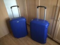 Two Samsonite Two Wheeled Hard Suitcases