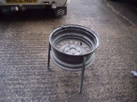 VW T4 FIRE PIT MADE FROM T4 STEEL WHEEL.