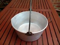 VINTAGE SWAN ALUMINIUM JAM PAN 12 INCHES COOKING PRESERVES