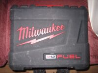 milwaukee m12 FUEL empty box