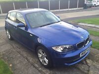 BMW 118d 2.0 2007 Semi Automatic 6 speed tiptronic gearbox, FSH, New MOT