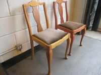 PAIR OF VINTAGE ERCOL FIDDLE BACK DINING CHAIRS FREE DELIVERY