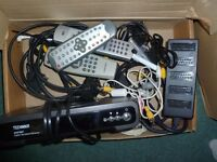 Freeview box, various leads & remote controls