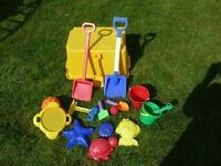 Toys to play with in sand pits or on the beach