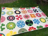 Ikea colourful rug