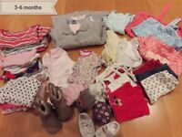 3-6 months girls clothes bundle - over 35 items