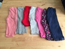 6 pair of leggings and 1 pair of shorts