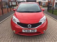 2016(66) NISSAN NOTE ACENTA, S/S 1.2 PETROL £20 YEAR TAX, LOW MILES, STUNNING CAR ONLY 5 MONTHS OLD