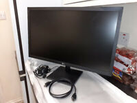 LG FULL HD 24 INCH MONITOR WITH (WITH HDMI PORT)