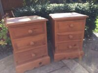 3 drawer solid pine ...good condition