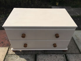 Hand Painted Large Solid Pine Chest of drawer in Excellent Condition
