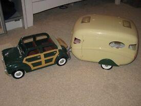 Sylvanian families car & caravan