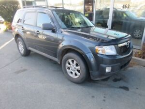 2009 Mazda Tribute AWD V6 WITH LEATHER & ALLOYS