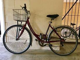 Raleigh ladies town bike, multi speed gears