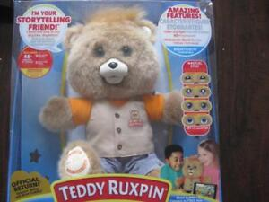 """Teddy Ruxpin 14"""" Animatronic Reading Bear. Color Electronic eyes expression. Bluetooth. Touch Sensor. Listen Story Song"""