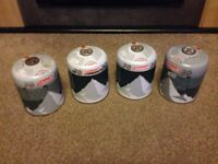 4 Coleman 70 butane self sealing c500 gas canisters