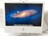 """APPLE iMAC 24"""" WHITE Widescreen 500GB 2GB 128MB A1200 IN WORKING ORDER"""