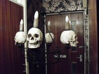 complete set of GOTHIC skull mounted lighting