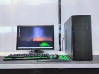 Gaming Computer PC Full Setup (Intel i5, 16GB RAM, 240GB SSD, GTX 1050)