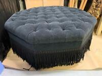 Large black footstool