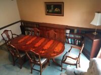 Dining Table and 6 Chairs suitable for Shabby Chic Gustavian style project