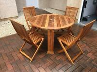 Quality Teak Garden Table and Chairs