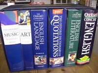 The Oxford. Dictionaries. Hatchards 200th Anniversary Set of 6 Cased Books. Music, Art, Quotations +