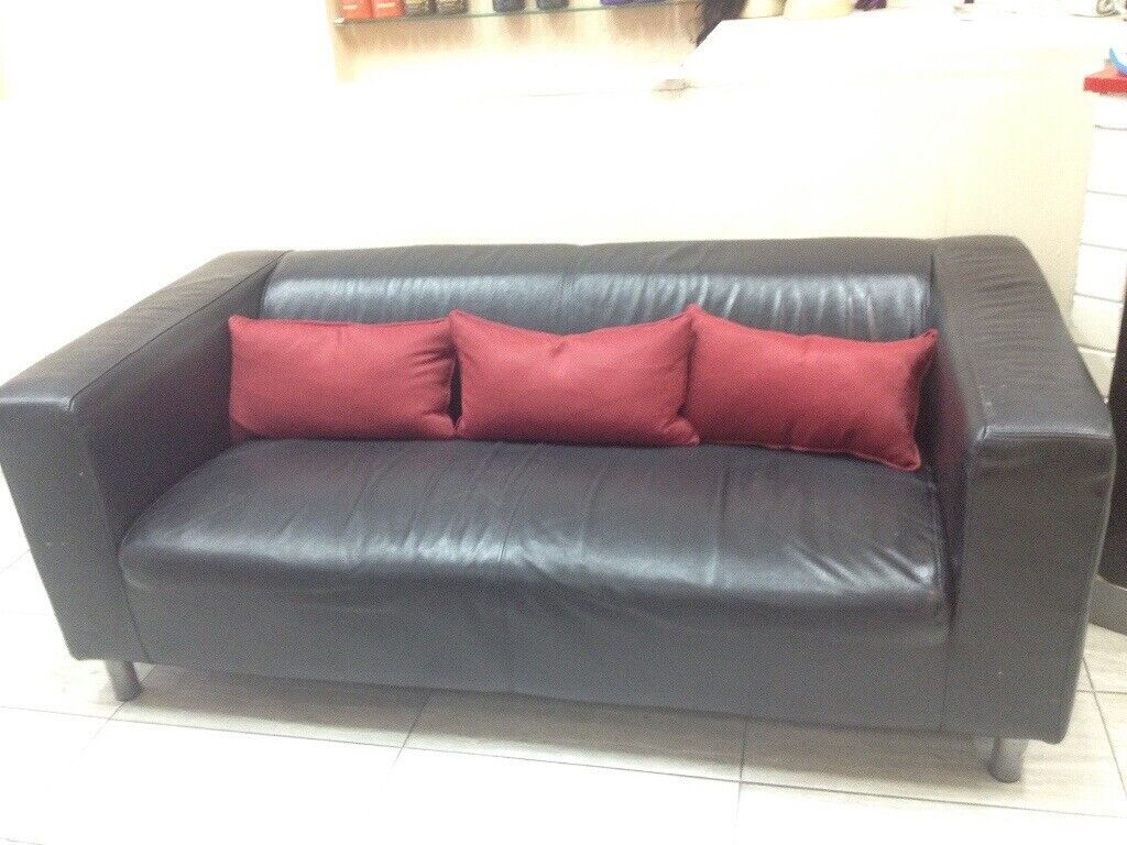 William Blake Chesterfield Sofa leather sofÁ- 3 seat in black | in earls court, london | gumtree