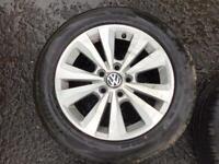 """16"""" TORONTO VW MK7 GOLF, VW CADDY VAN, ALLOY WHEELS ALLOYS TYRES WHEELS RIMS PCD 5 X 112 FITMENT"""