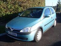 03 Vauxhall Corsa 1.2 Elegance Auto, Full MOT, Very Low Miles