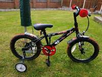 """Childs 12"""" whell bike with stabalisers 3/5yr old"""