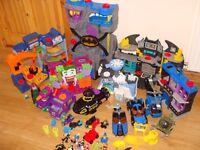 Imaginext Batman bundle batcave, Gotham city Jail, Joker, Mr Freeze, etc