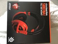 Msi red dragon limited edition steel series headset and mouse