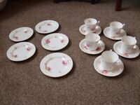 antique 5 piece bone china tea set