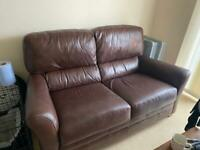2 seater leather sofa for Sale in Bridgwater, Somerset