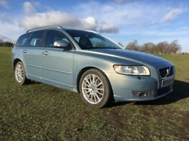 VOLVO V50 2.0D SE LUX, FULL SERVICE HISTORY (14 STAMPS), 1 PREVIOUS OWNER (59PLATE)