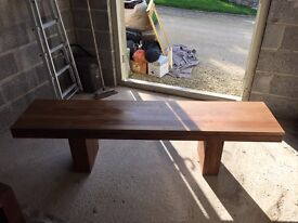 x2 Solid Walnut Benches
