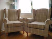 NEXT ARMCHAIRS X 2. IMMACULATE CONDITION. £400. MUST COLLECT.
