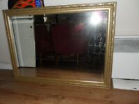 LOVELY LARGE GOLD MIRROR (85 X 115 CMS)