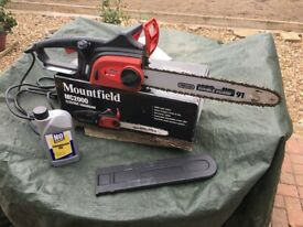Mountfield MC2000 Electric Chainsaw and chainsaw oil for sale