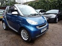 2009/58 Smart Fortwo 1.0 Passion Cabriolet/CONVERT ** ONLY DONE 35K MILES** HEATED LEATHER+F.S.H+AUX
