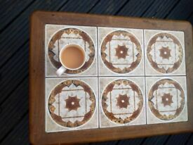 Table, coffee table, tiled 1970s vintage