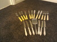 Selection of Knives and Forks