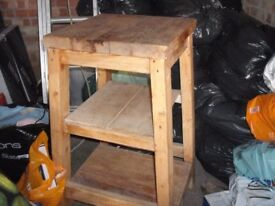 Solid, Heavy, Old Pine, Kitchen Stand (perfect condition)