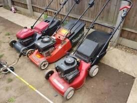 3 mountfield petrol lawnmowers stihl strimmer