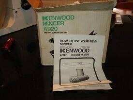 A new unused Kenwood mincer for 901 and 901A models.