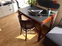 Vintage desk 70's and free coffee shop chair