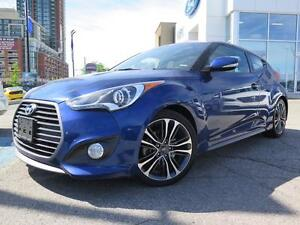 2016 Hyundai Veloster Leather, Moon Roof, Navigation, Auto, Turb
